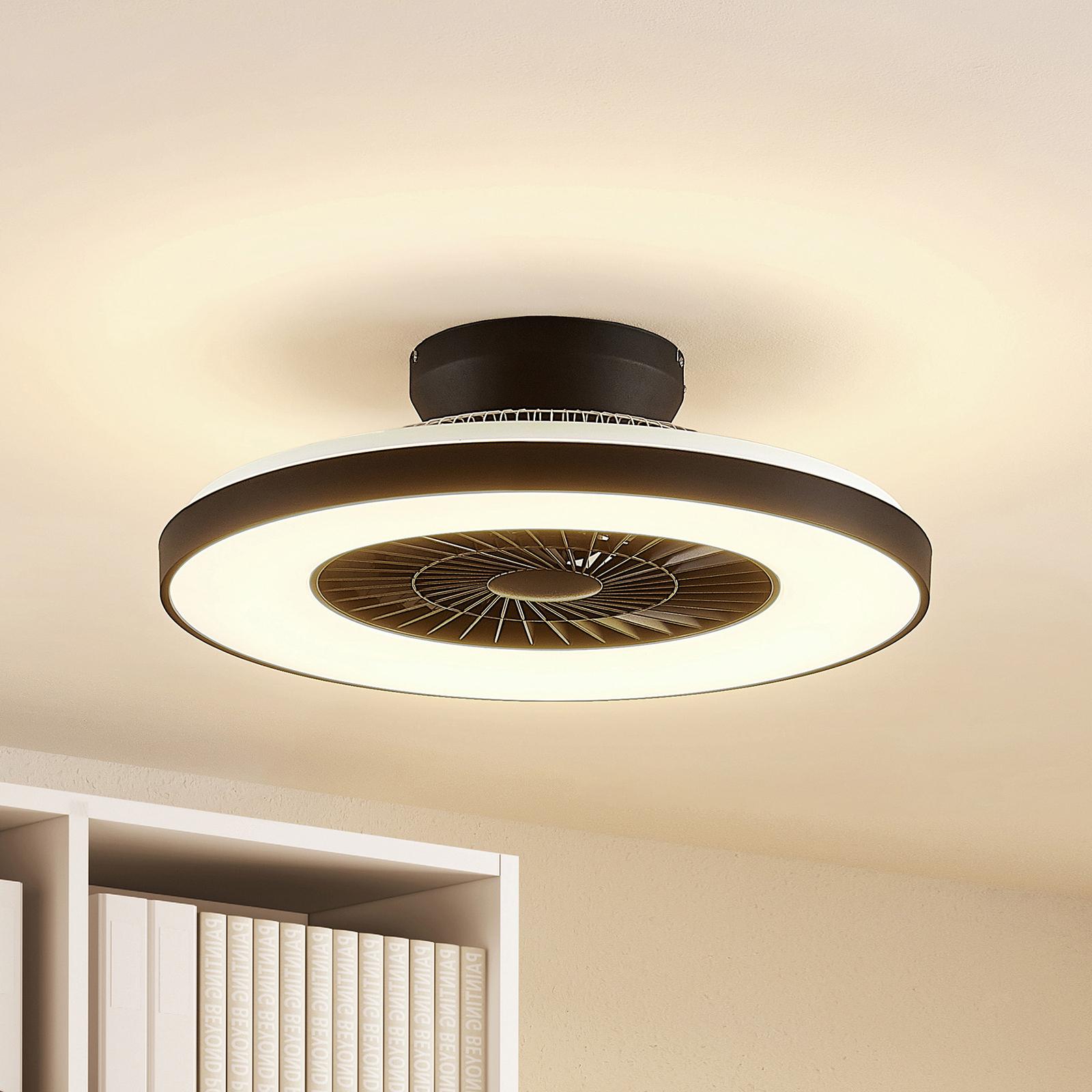 Starluna Orligo LED-Deckenventilator, schwarz matt