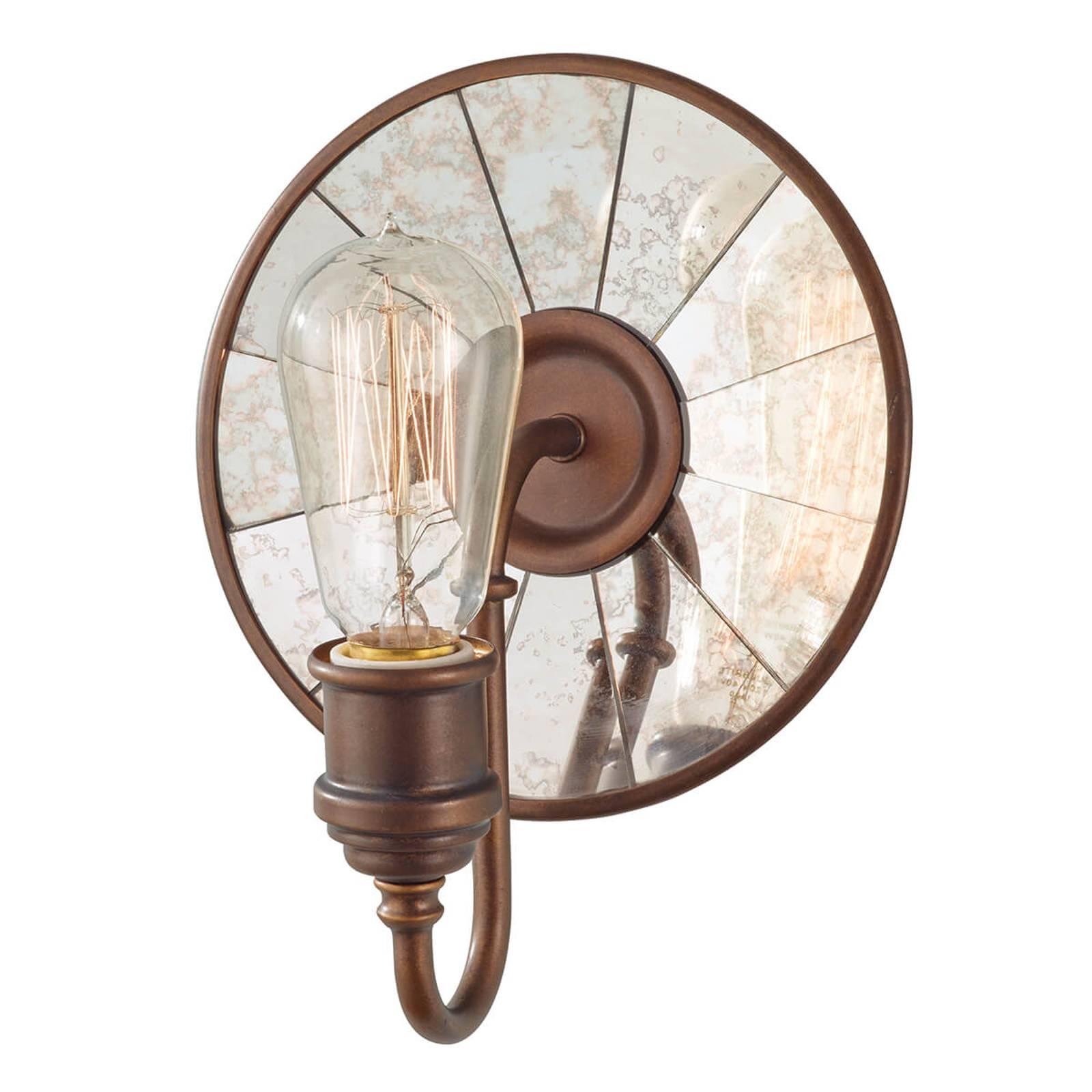 Wandlamp Urban Renewal met spiegelglas in brons