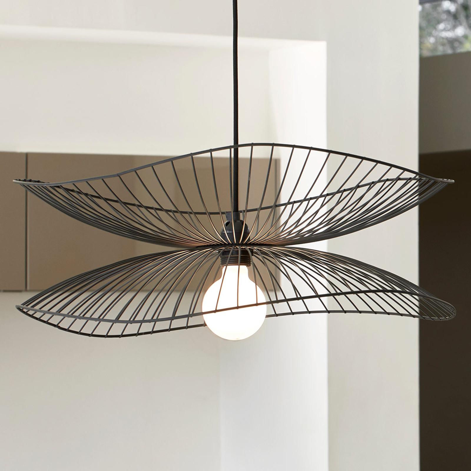 Forestier Libellule S lampa wisząca, 56 cm, czarna