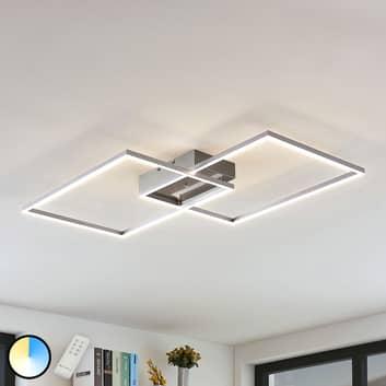 LED plafondlamp Quadra, dimbaar, 2 lampen, 75 cm