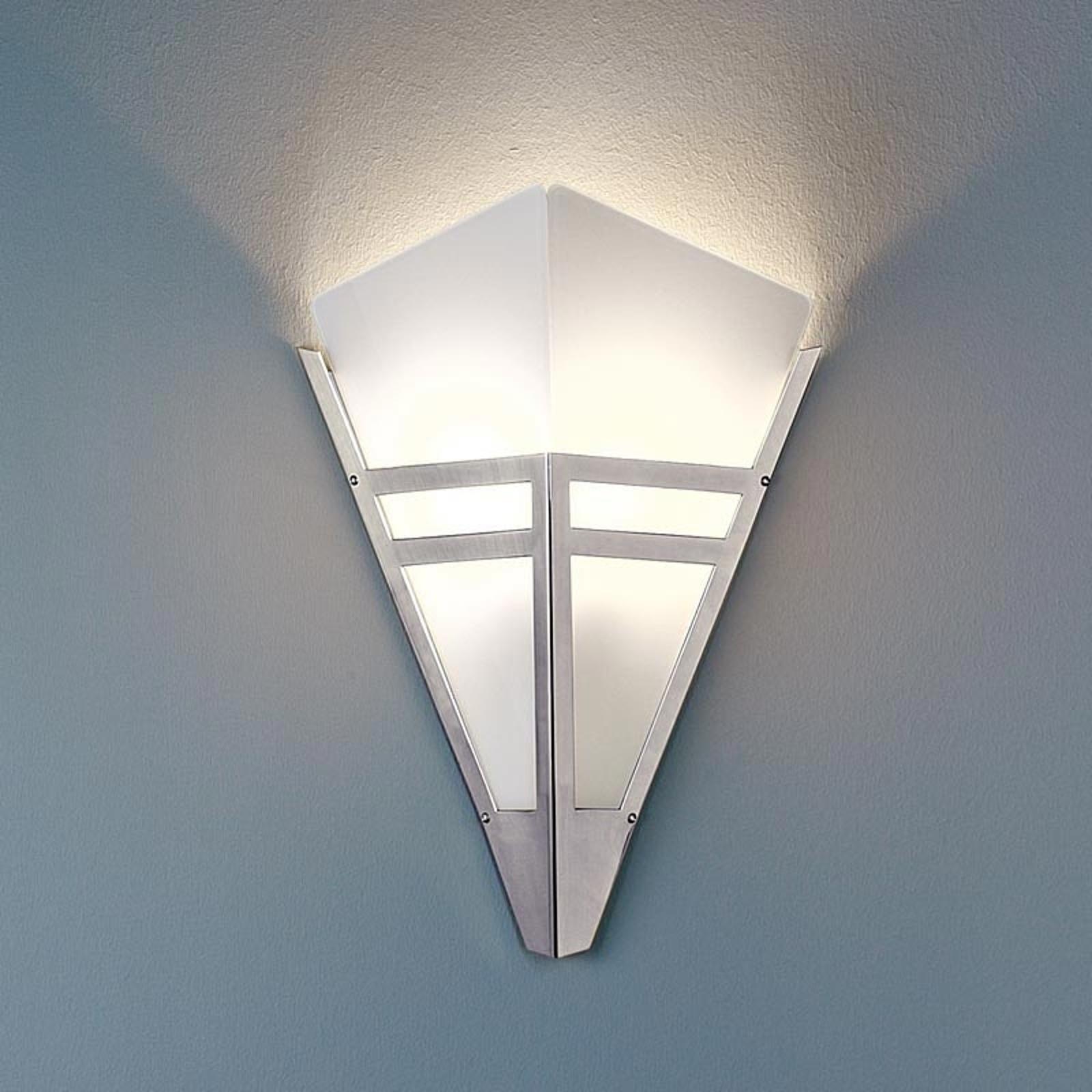 Art Deco-vegglampe fra 1980 forkrommet metall