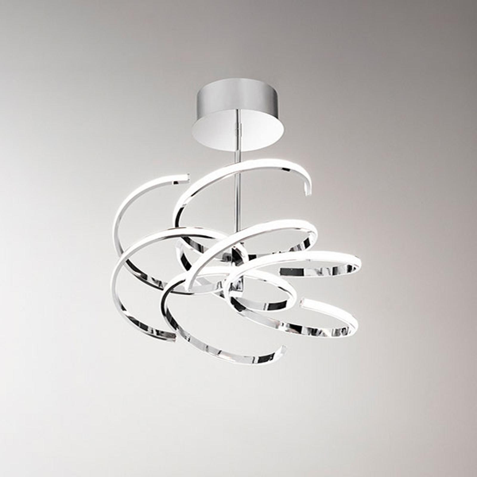 LED-taklampe 6398 krom