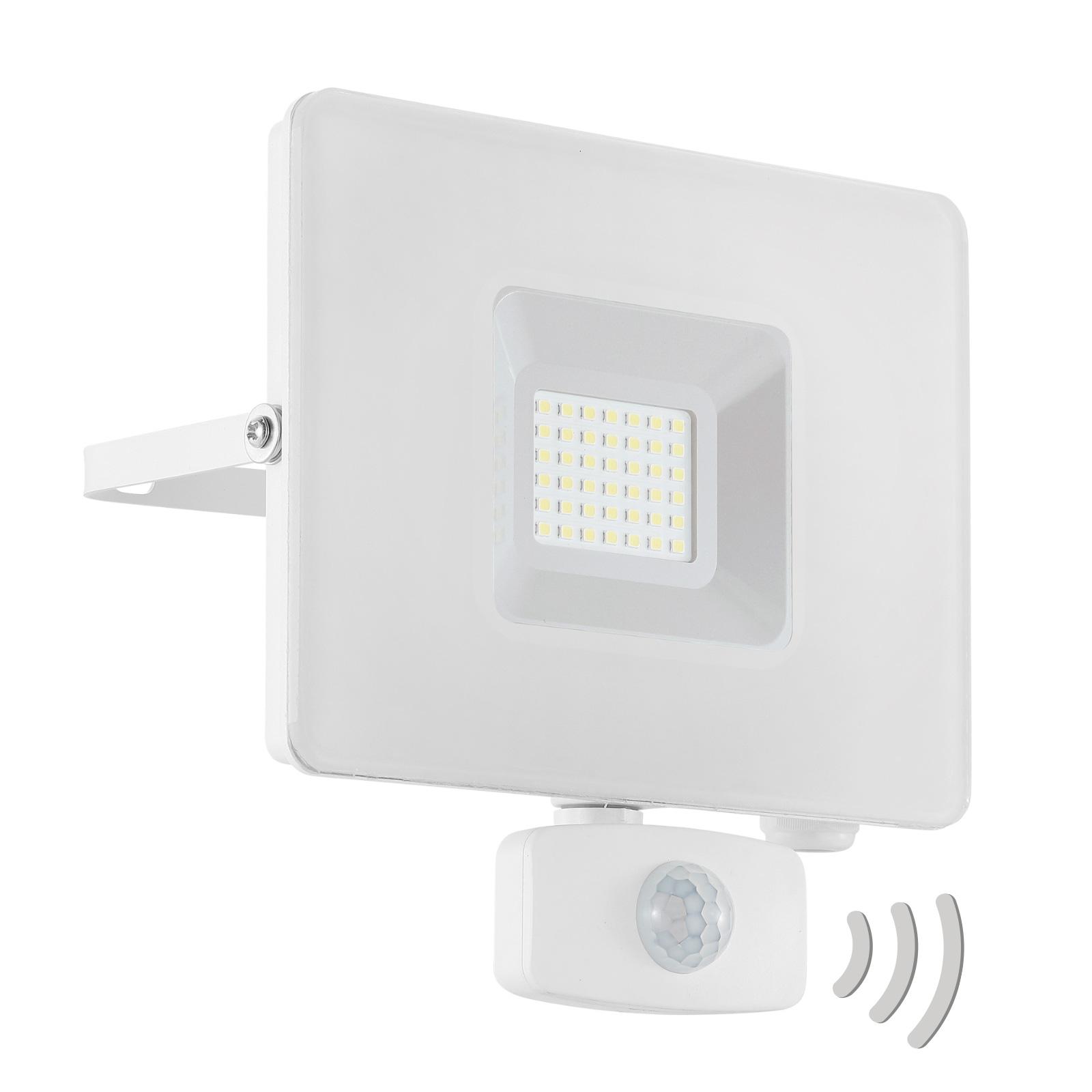 LED buitenspot Faedo 3 met sensor, wit, 30W