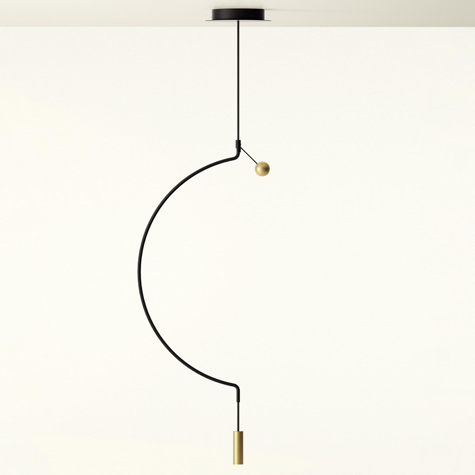 Axolight Liaison M1 Pendellampe schwarz/gold 46cm