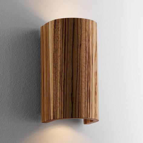 Smuk Tube Zebrano væglampe, 17,5 cm