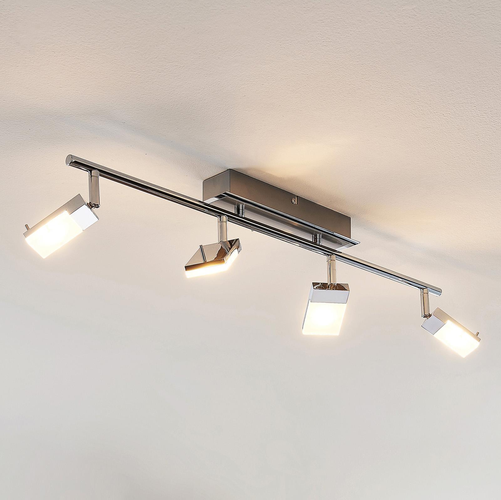 LED-Strahler Alija, verchromt, 4-flammig