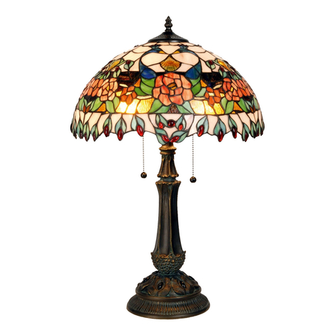 Fargerik bordlampe Maja, Tiffany-design