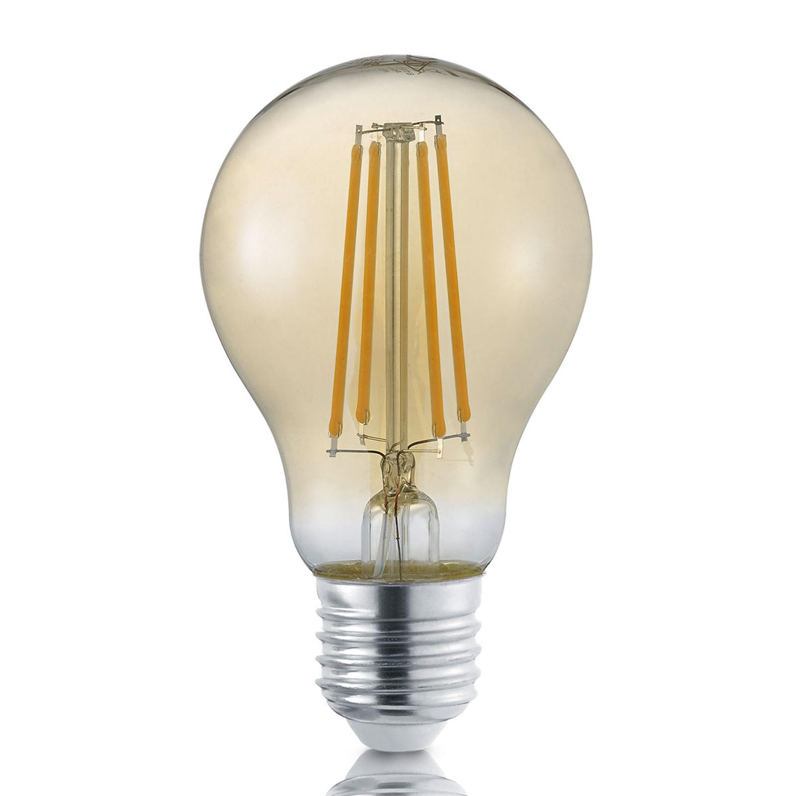 Filament. žár. LED E27 8W zlatá stmívač 2.700K