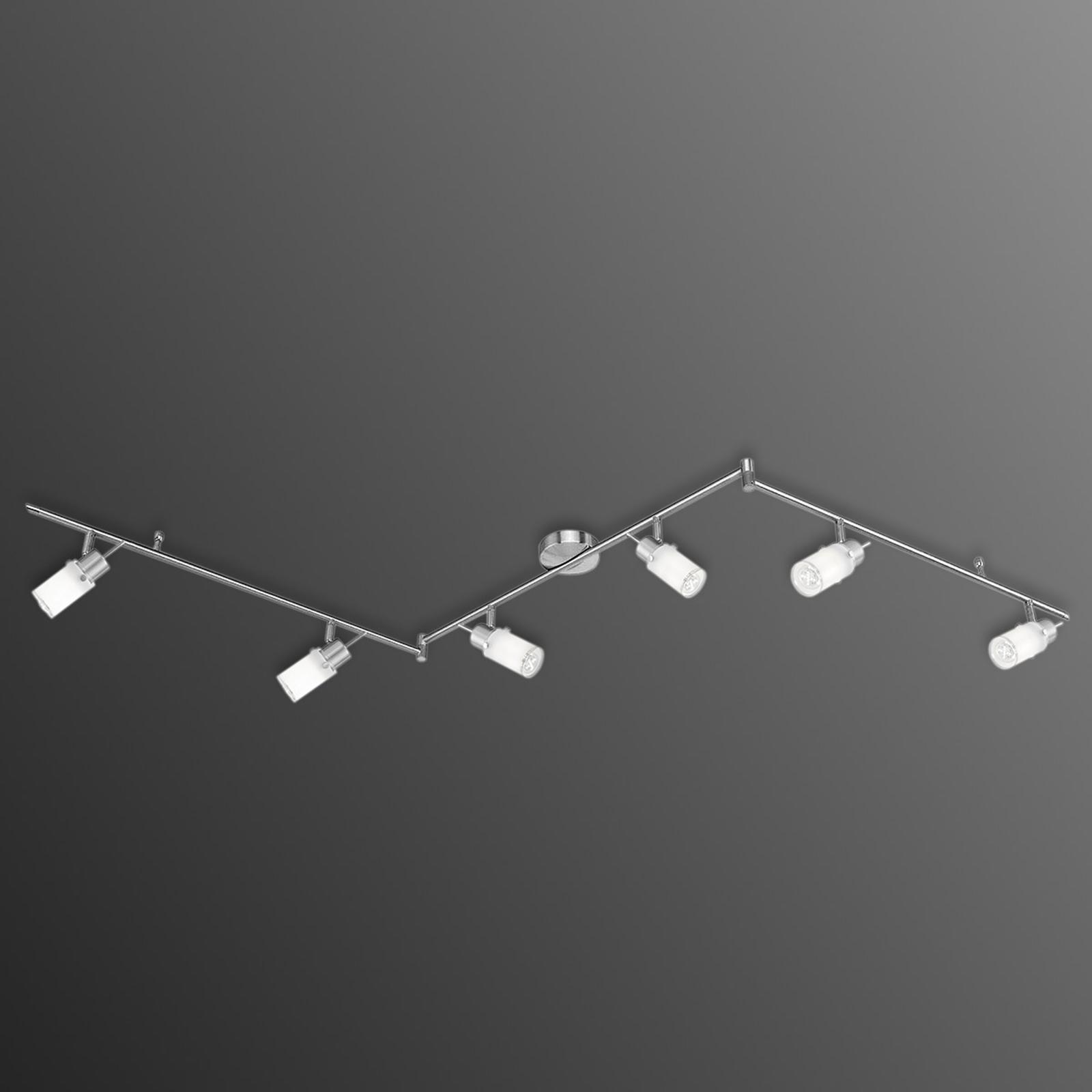 Trójramienna lampa sufitowa LED MAX, 6-punktowa