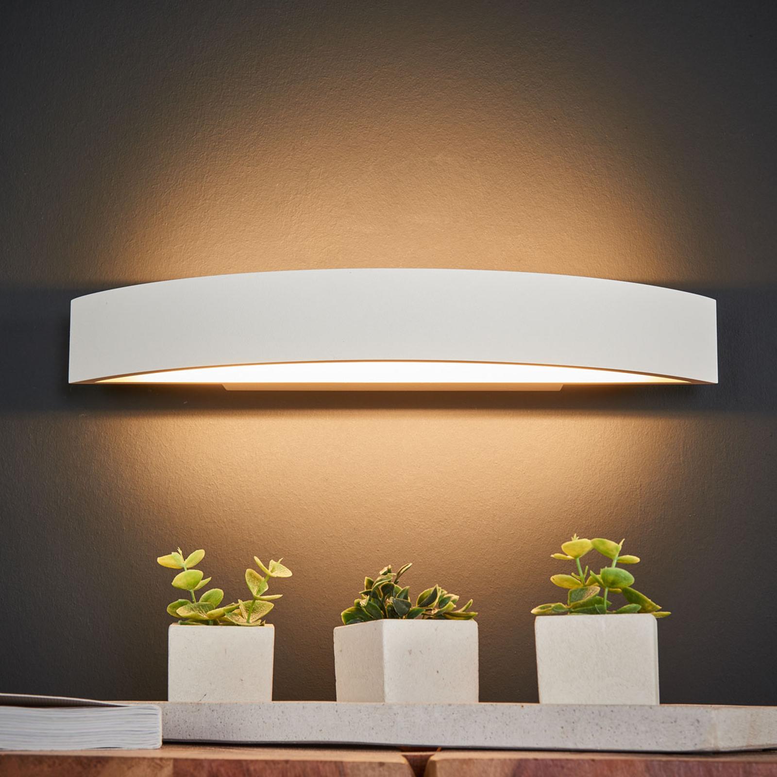 Helestra Yona LED-Wandlampe, weiß, 37,5 cm