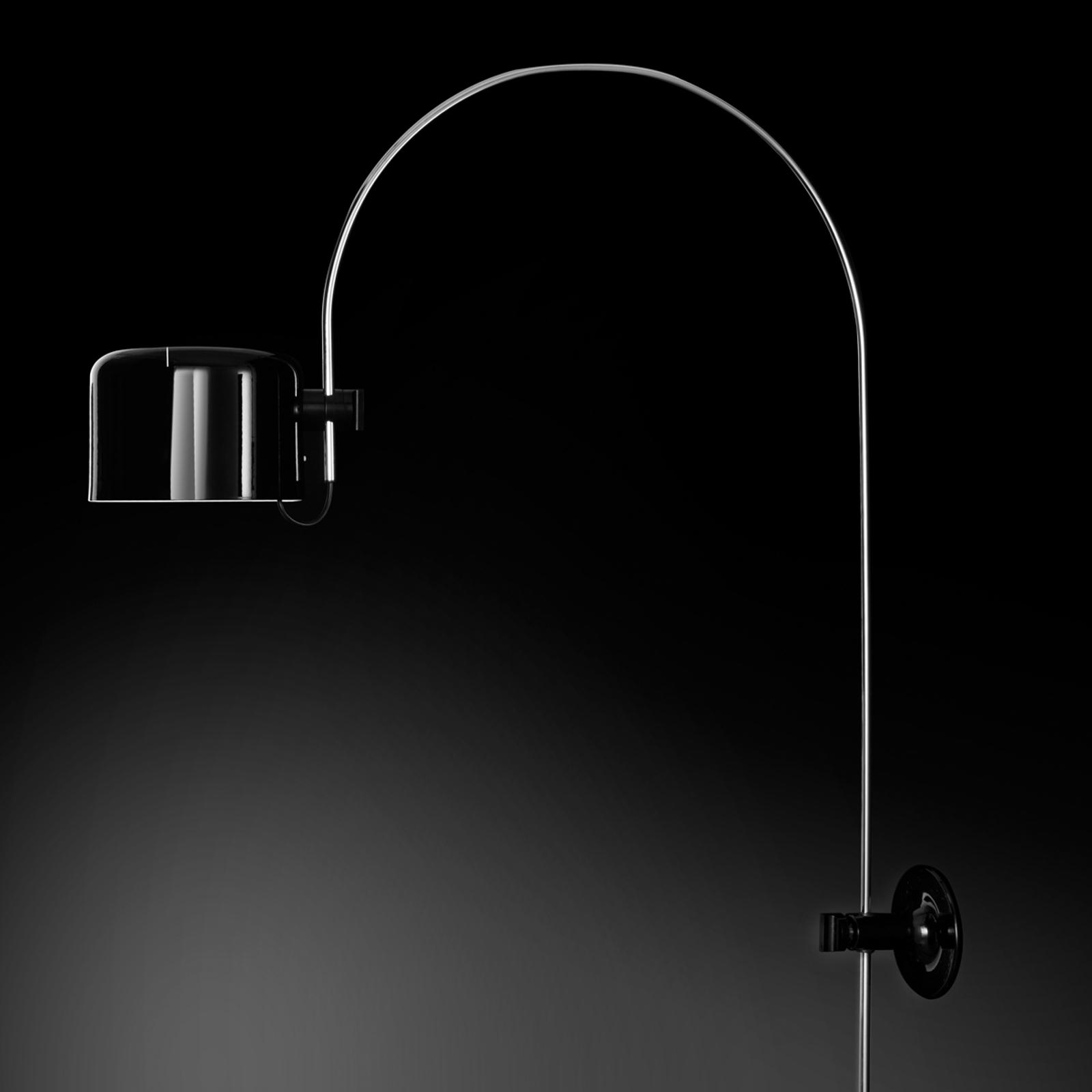 Billede af Oluce Coupé - buet væglampe i sort