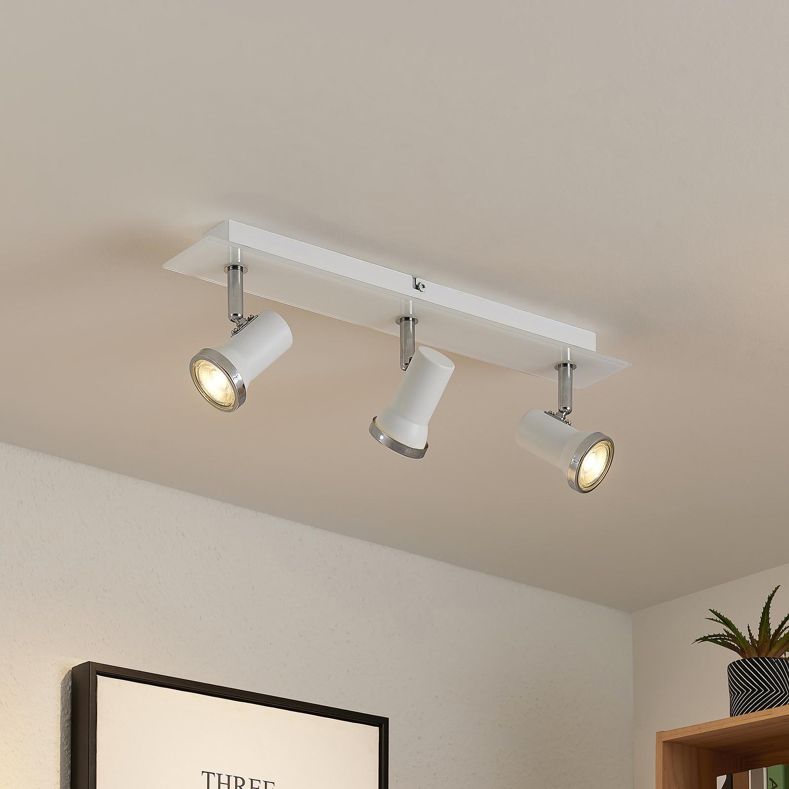 Lindby Marvolo væglampe, hvid, 3 lyskilder