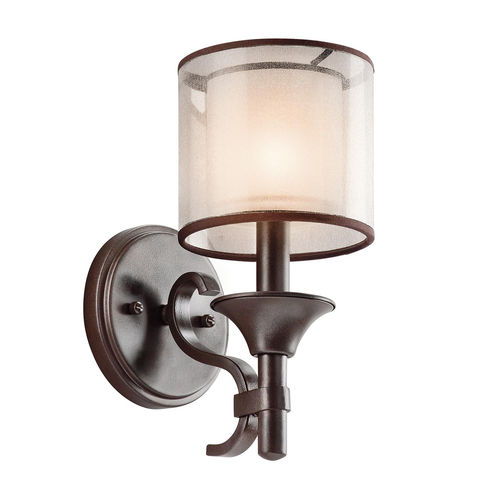 Vägglampa Lacey med dubbelskärm