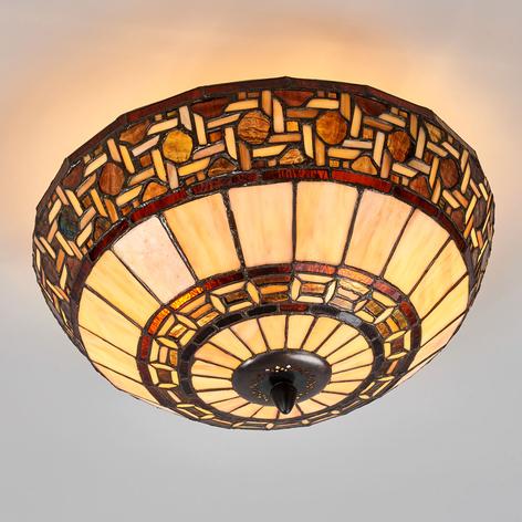 Wilma - lámpara de techo de estilo Tiffany