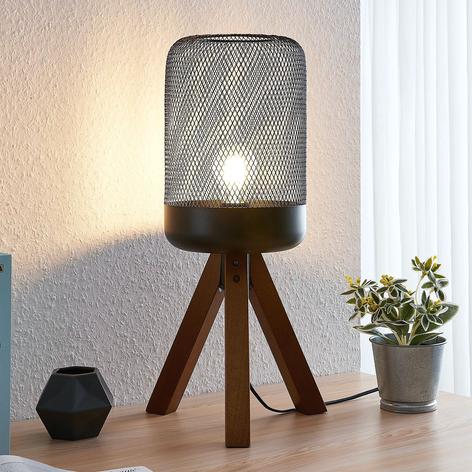 Lindby Eymen tripod-bordlampe med bur-skjerm