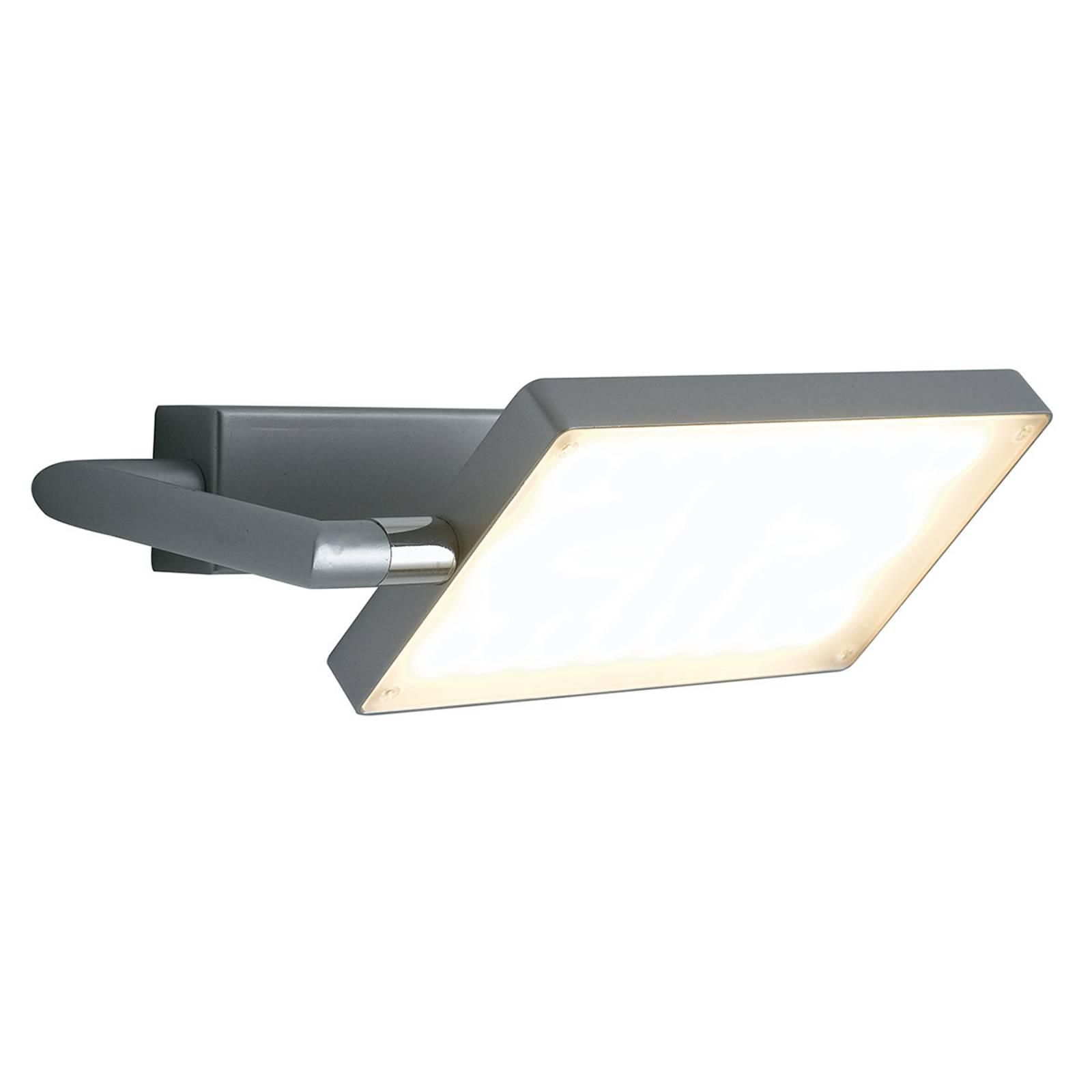 LED wandlamp Book, grijs