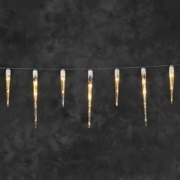 Tunnelmallinen LED-valoketju Jääpuikot