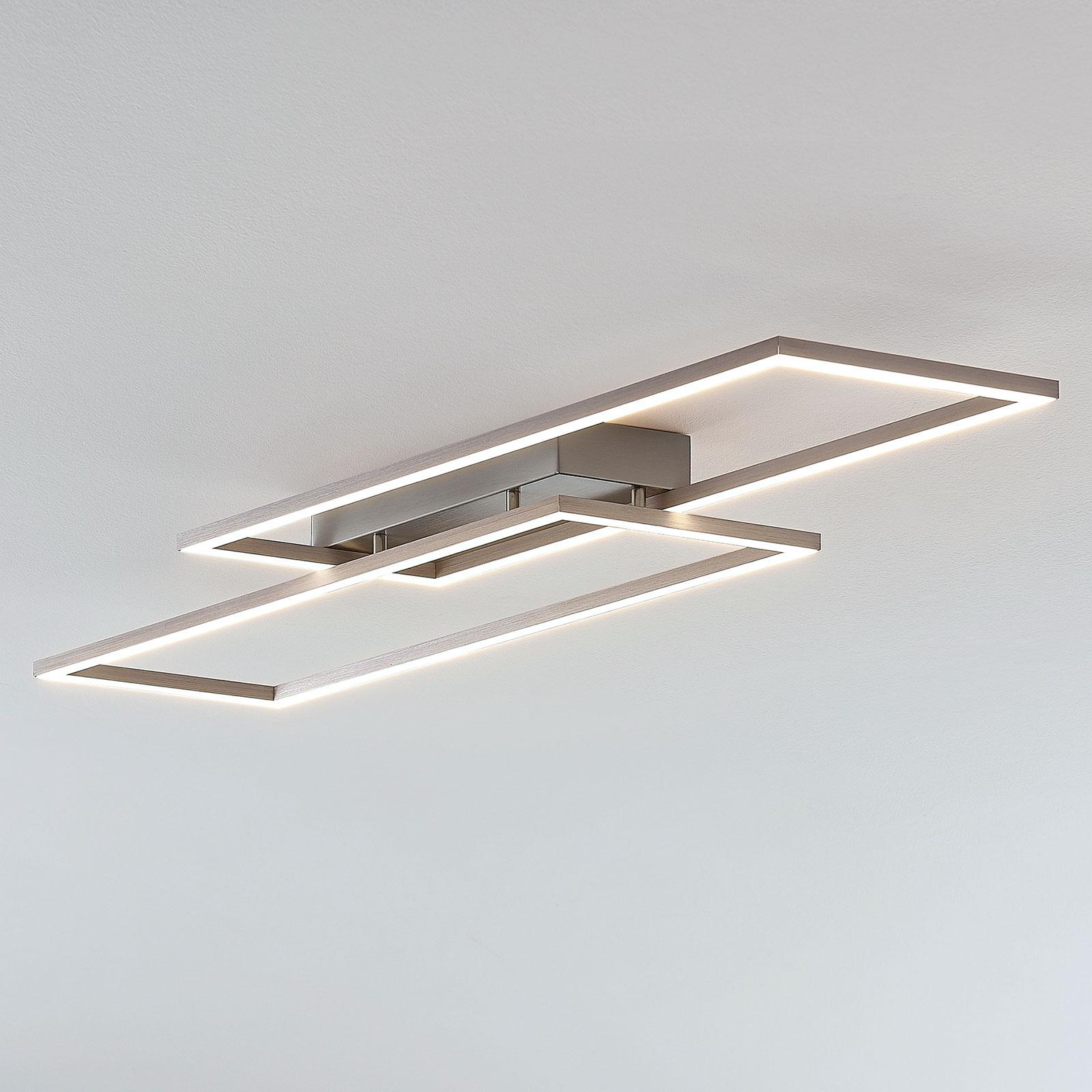 Lámpara LED de techo Quadra forma marco, atenuable