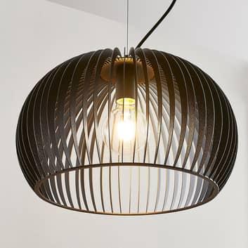 Lampa wisząca Jusra z czarnego metalu, 1-pkt.