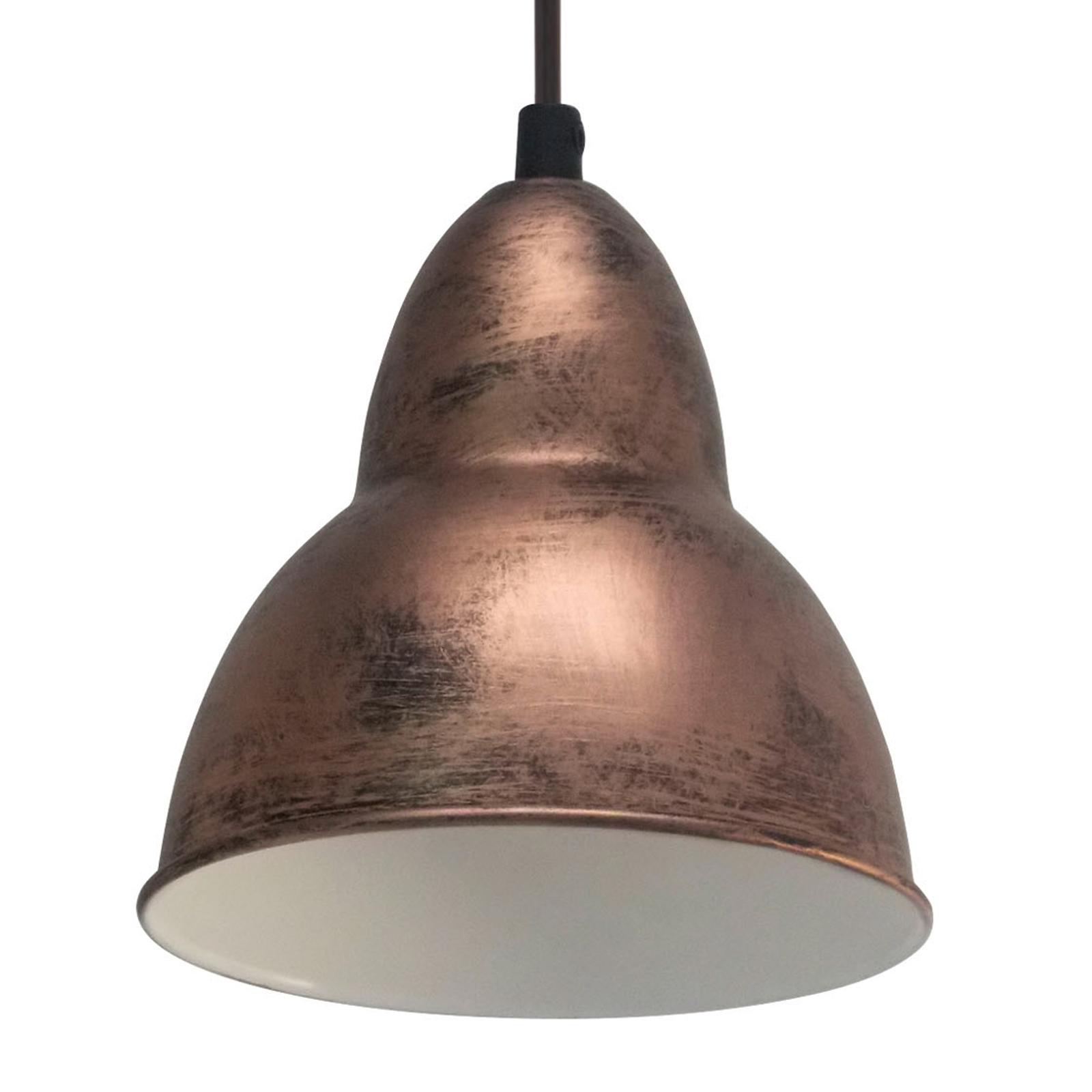 Lampa wisząca BOJAN w stylu vintage, miedziana