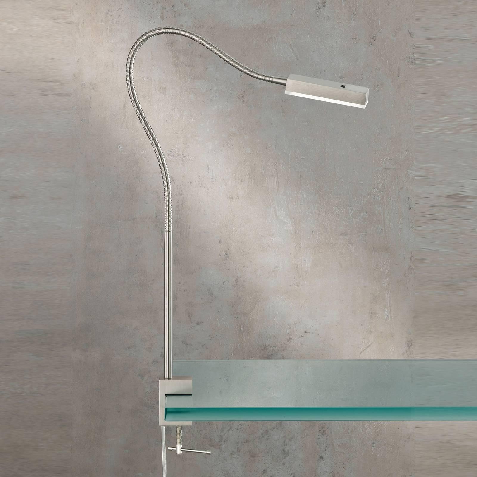 LED klemlamp Raik met gebarenbediening, 60 cm