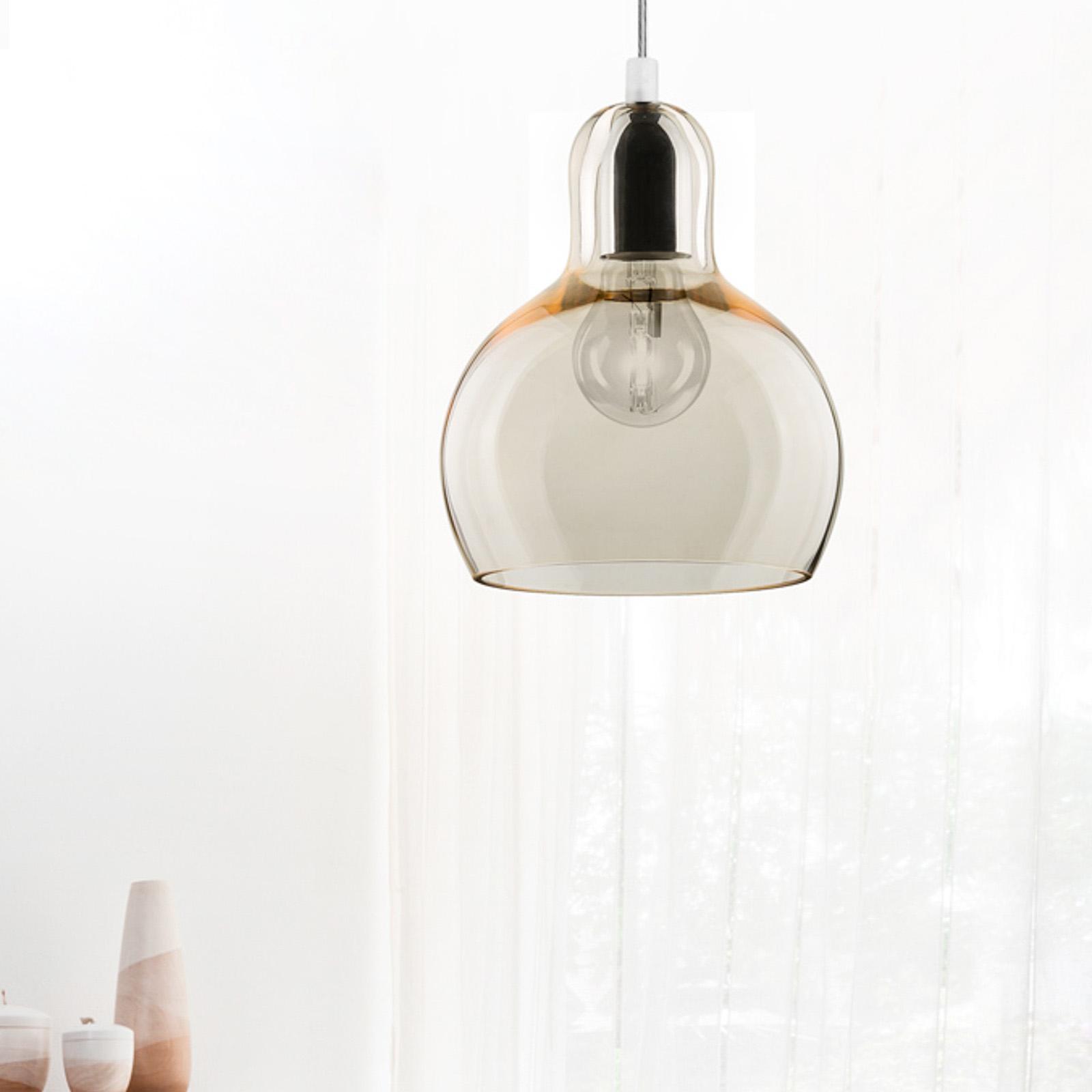 Hängeleuchte Mango, graphit-transparent/silber