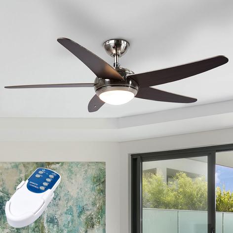 Ventilatore da soffitto Anneka wengé con luce