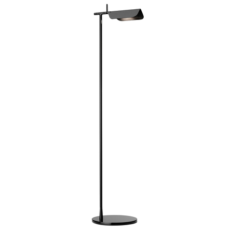 Minimalistische vloerlamp TAB led F, zwart