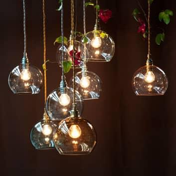 EBB & FLOW Rowan lampa wisząca szkło ze złotem