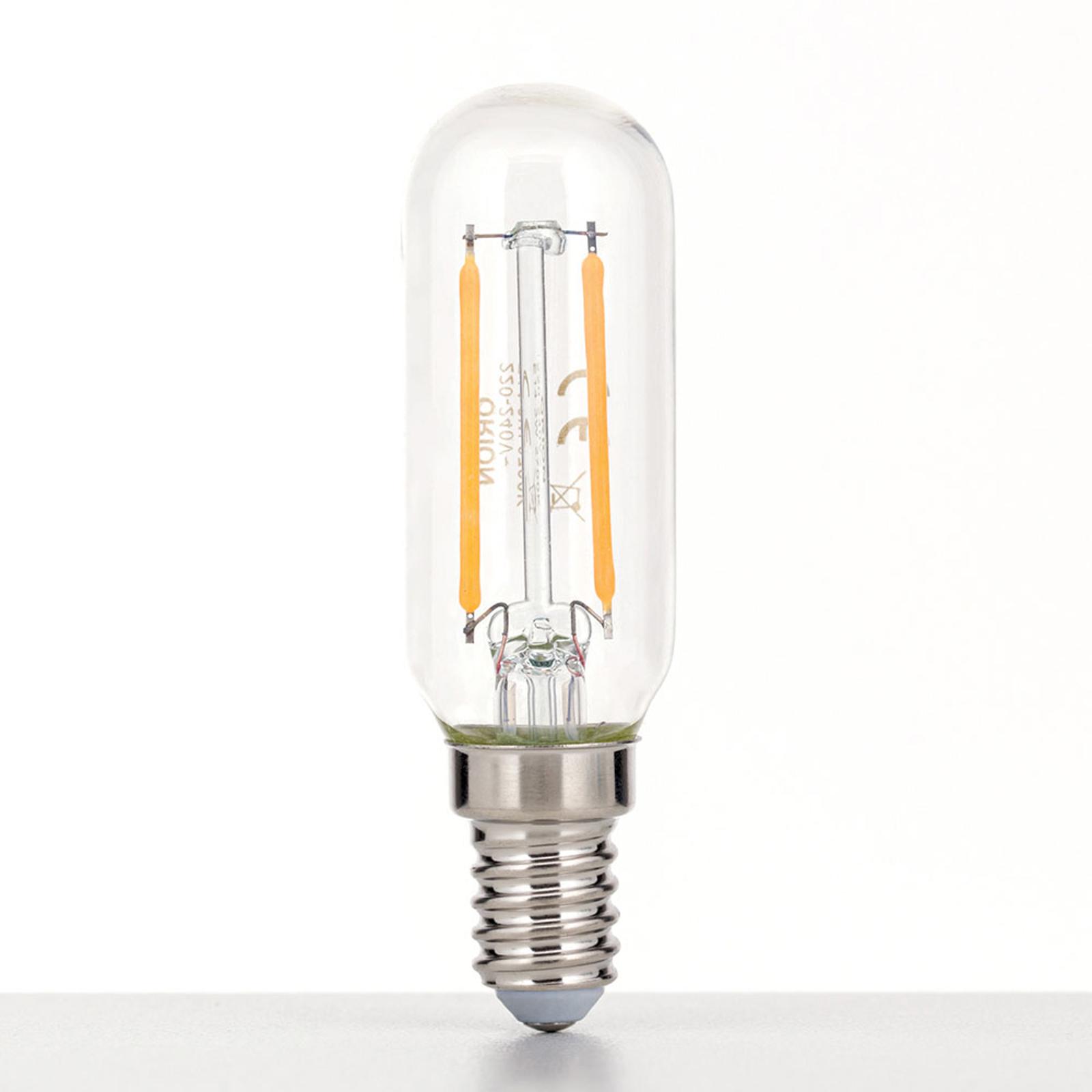 Żarówka LED E14 3W 2700K pręt, przezroczysta