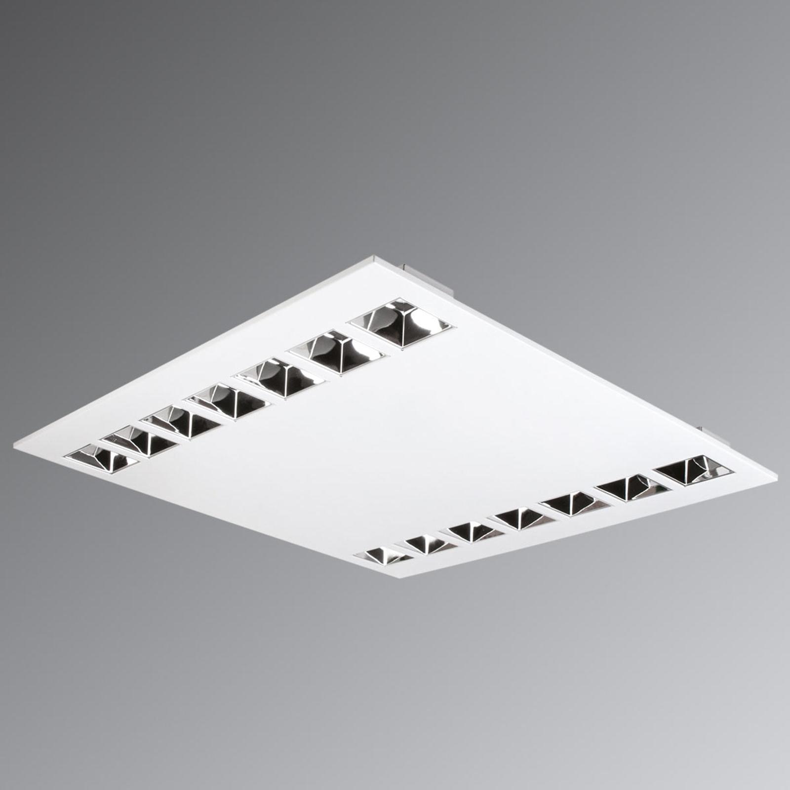 Plafonnier trame encastré LED Estela anti-ébloui.