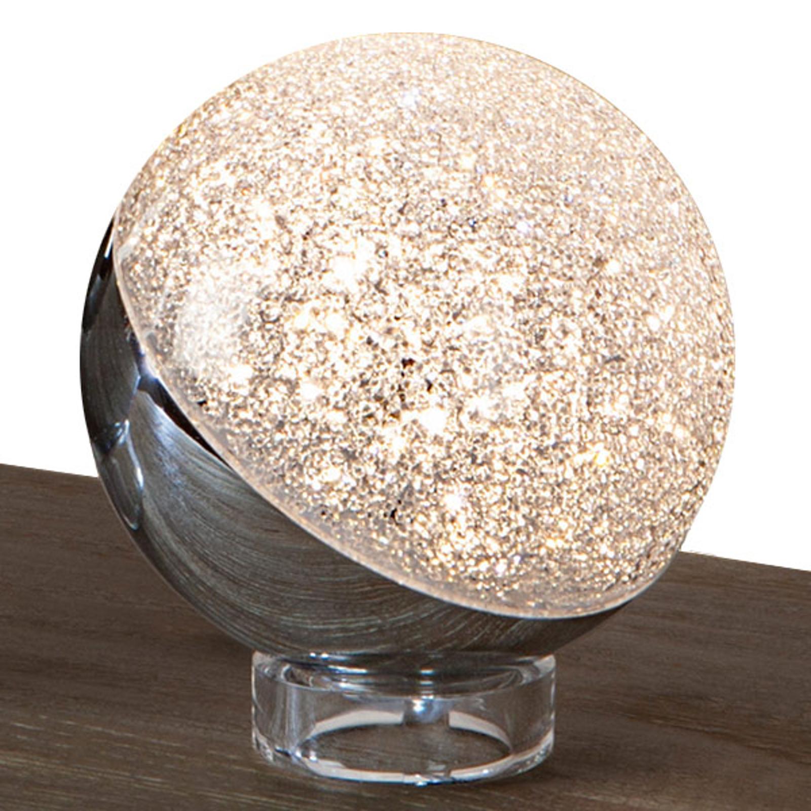 LED-bordlampe Sphere, krom, Ø 12 cm