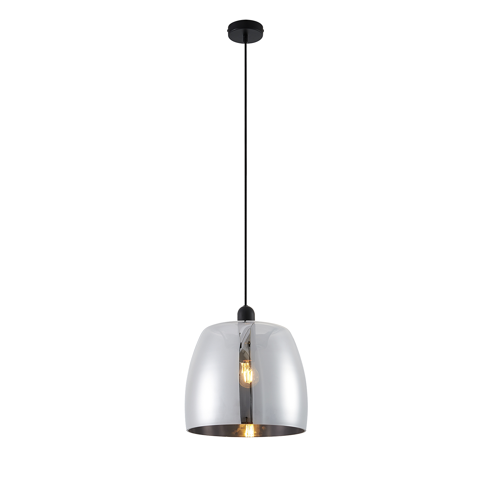 Lindby Yrell hængelampe med røgglas, 1 lyskilde