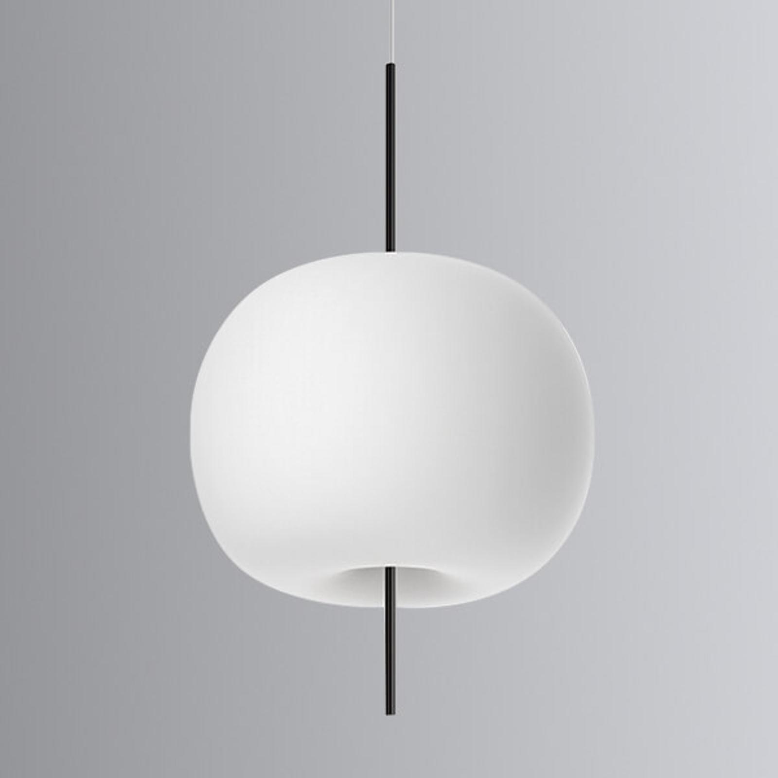 Okrągła designerska lampa wisząca LED Kushi, 33cm