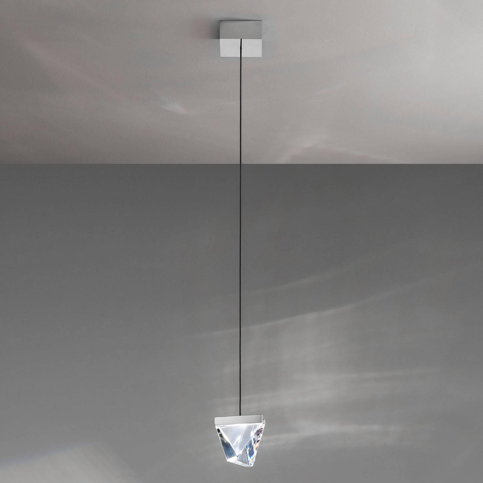 Fabbian Tripla lampa wisząca LED aluminium