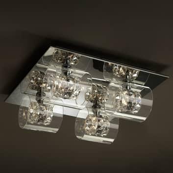 LED-Deckenlampe Flash mit Kristallringen