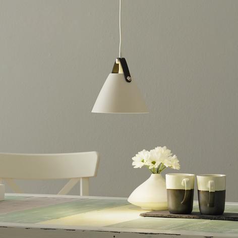 Lámpara colgante Strap, Ø 16,5 cm, blanco
