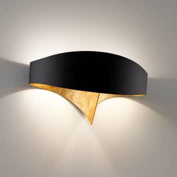 Czarno-złota designerska lampa ścienna Scudo