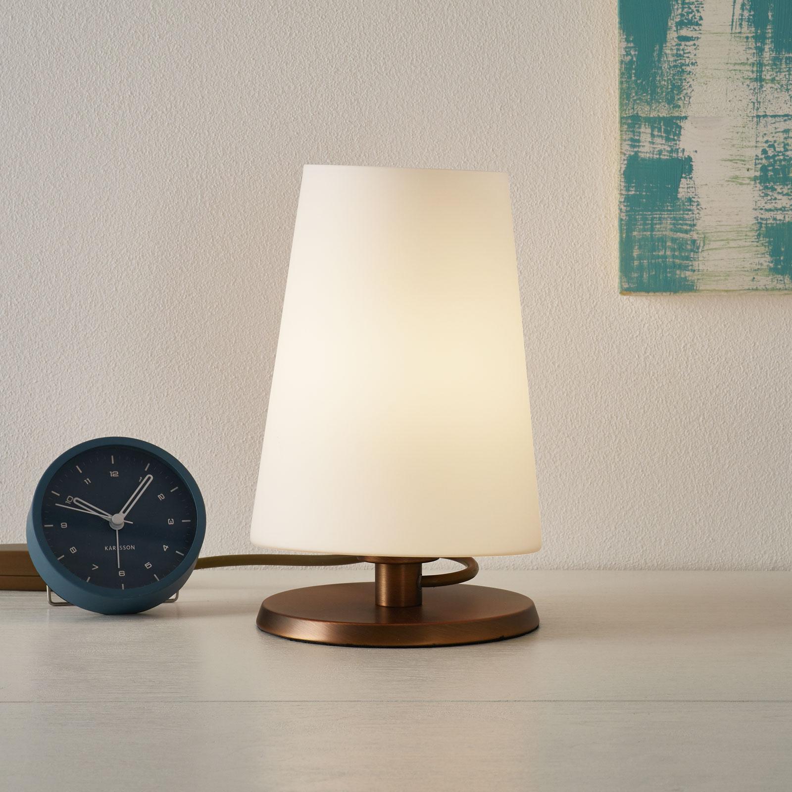 Ancilla – lampa stołowa, ściemniacz dotykowy, brąz