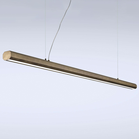 Lámpara colgante LED Materica barras 200 cm latón