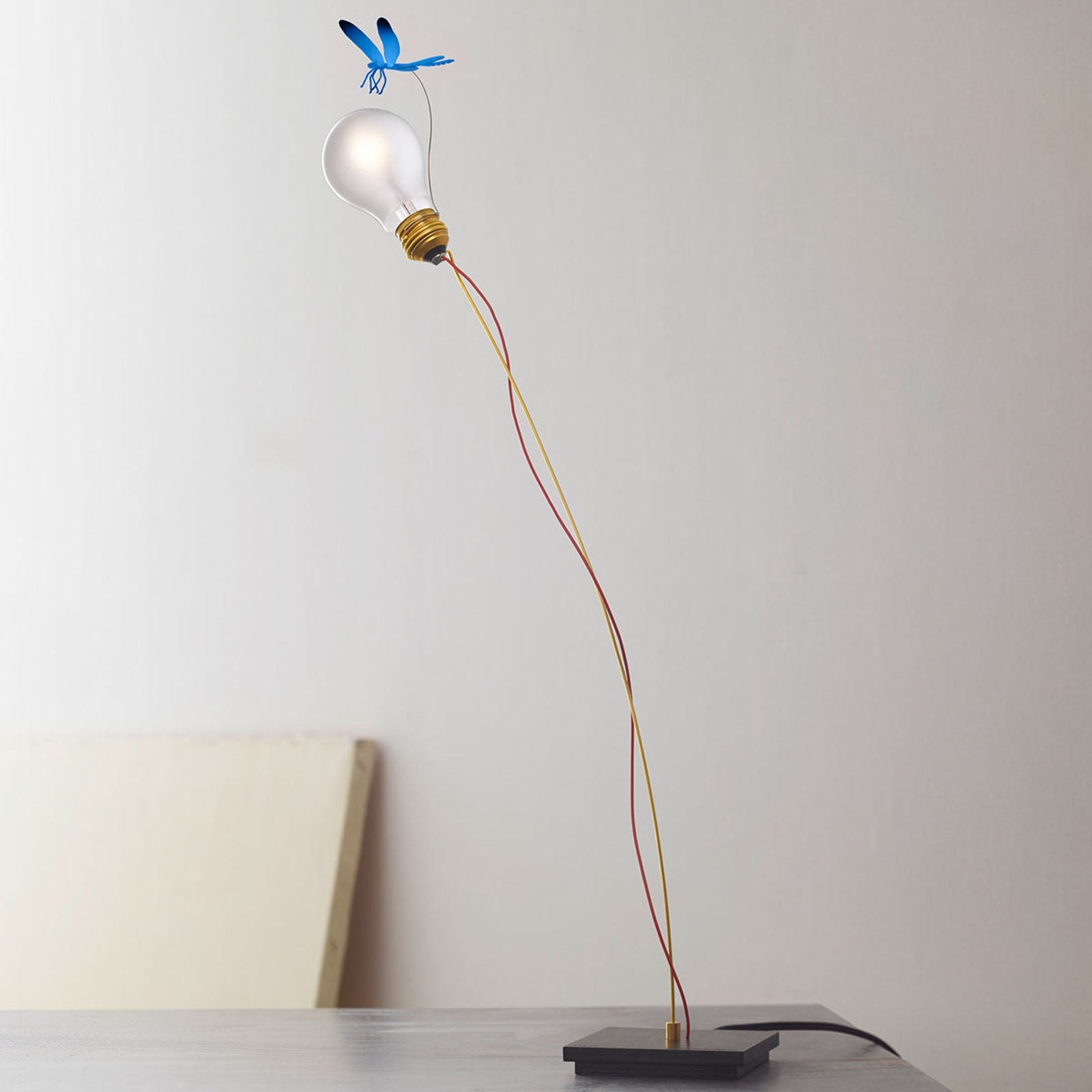 Bordlampe I Ricchi Poveri Bzzzz - blå libelle