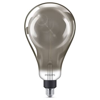 Philips E27 Giant -LED-lamppu 6,5W himmennys smoky