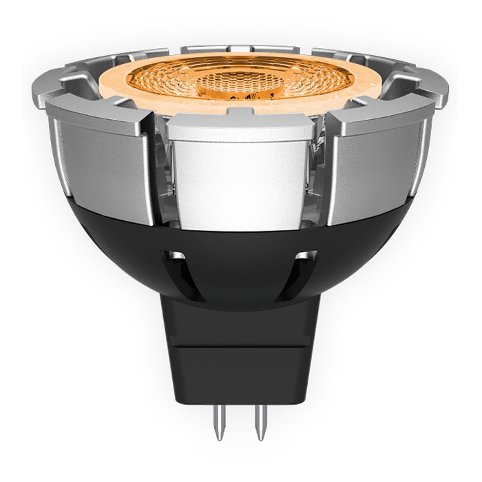 Lampadina LED riflettore MR16 GU5,3 7W dimmerabile