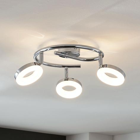 LED-Deckenleuchte Ringo 3-flammig Spirale