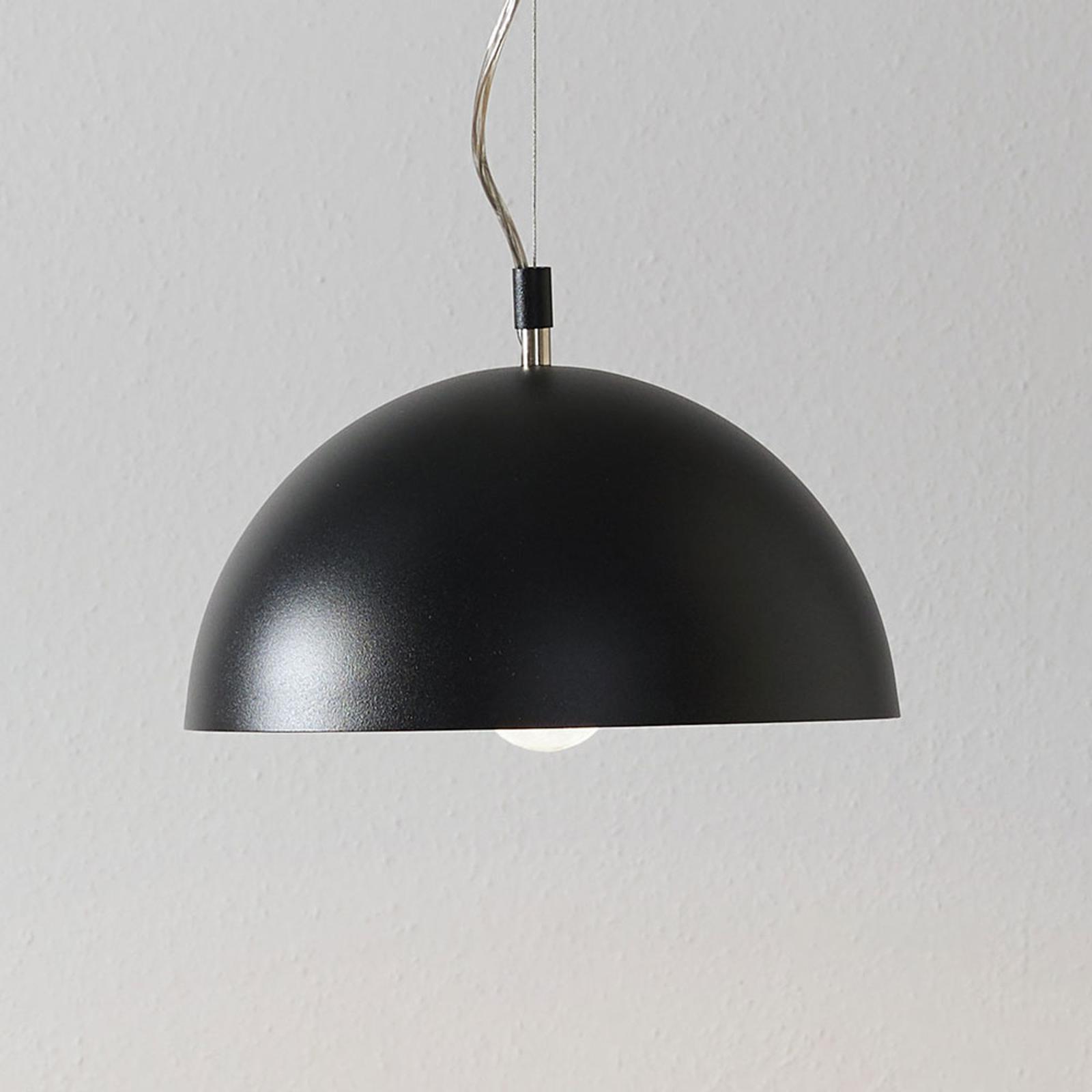 Lucande Maleo hanglamp 30cm zwart