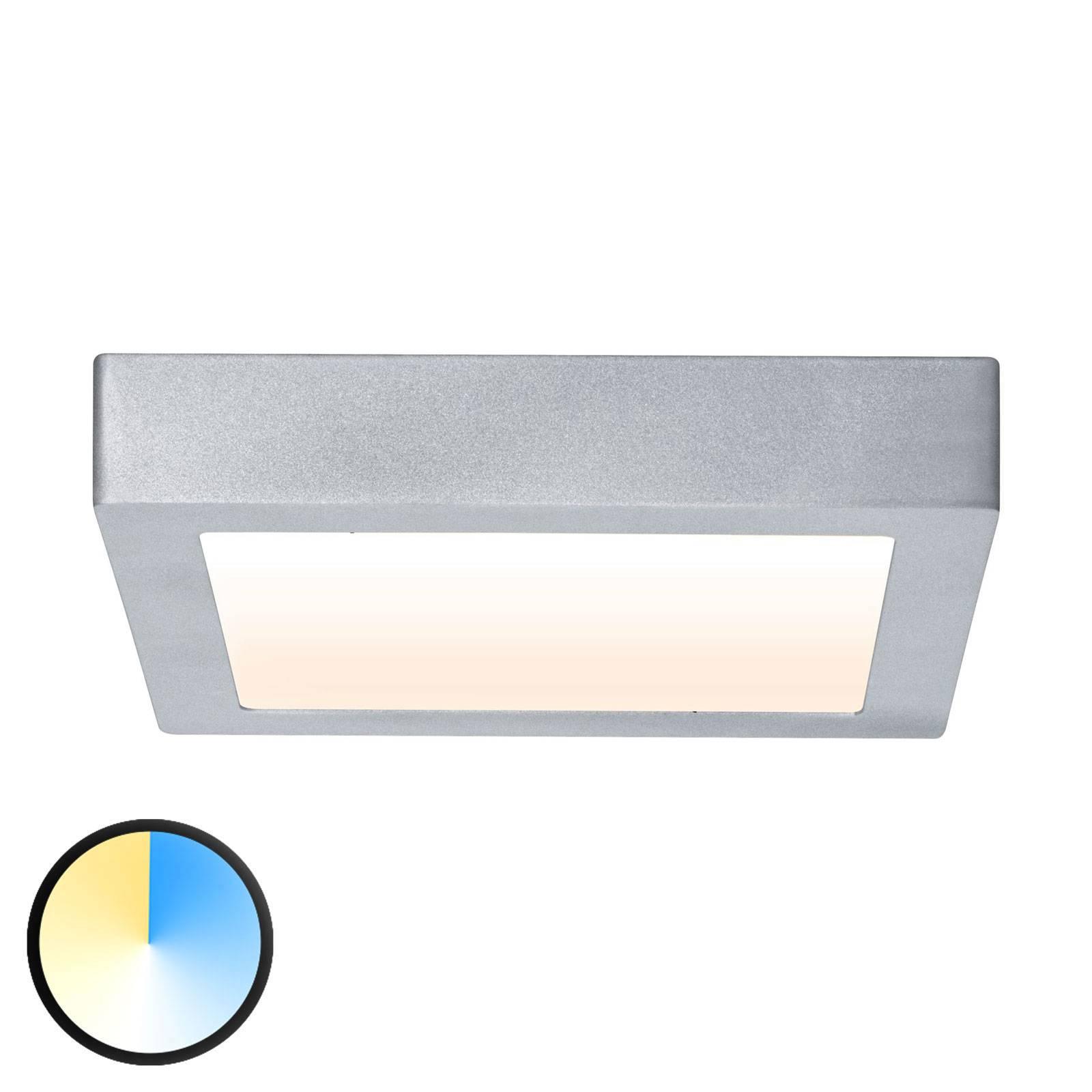 Paulmann Carpo LED plafondlamp chroom 22,5x22,5cm