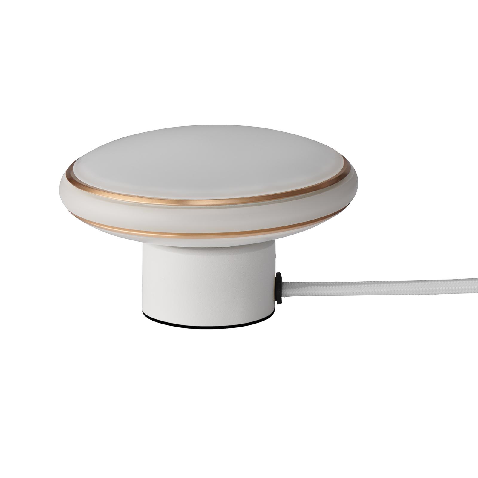 Shade ØS1 Mini Ringe bordlampe, messing, hvid fod