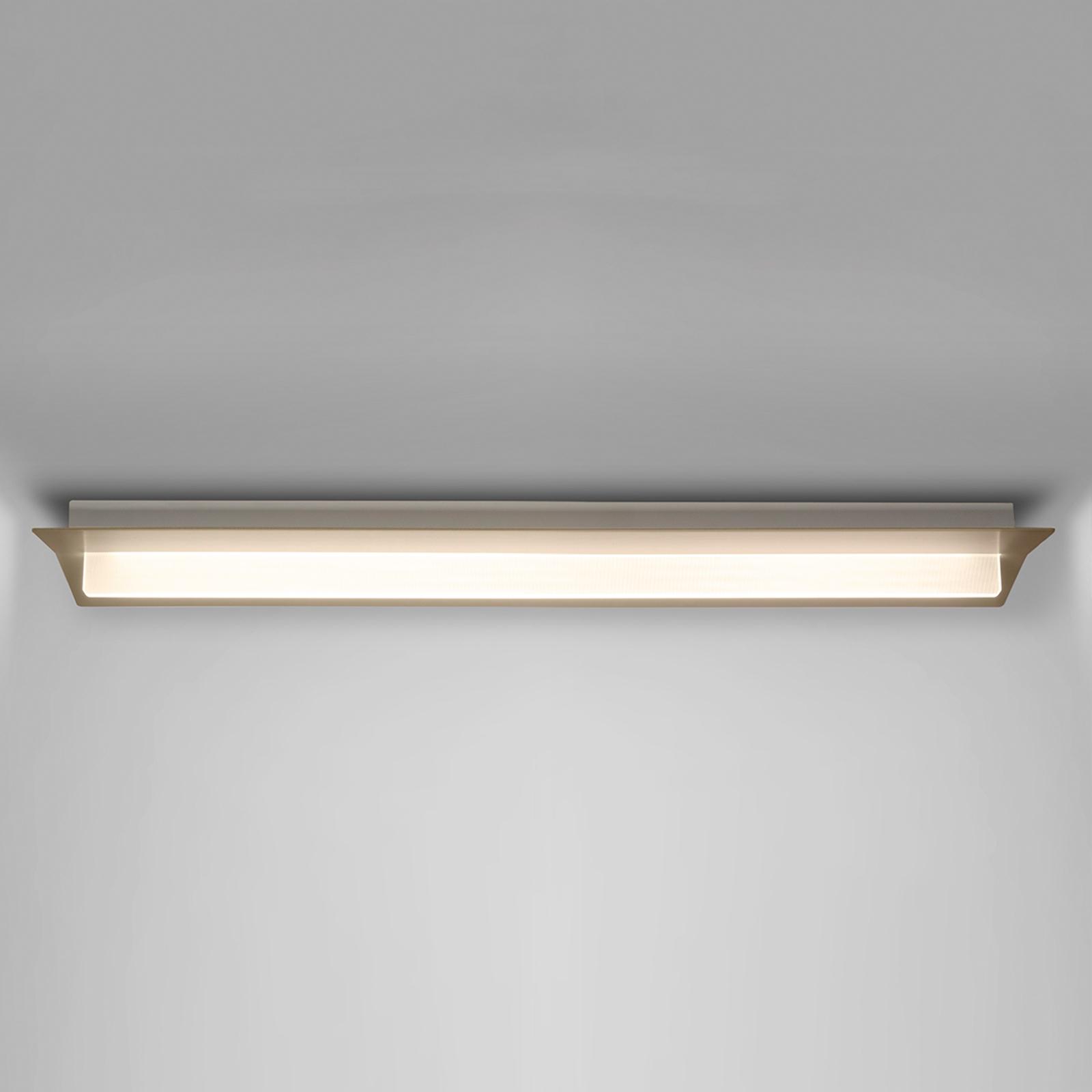 Plafonnier LED Flurry, 100cm, bronze