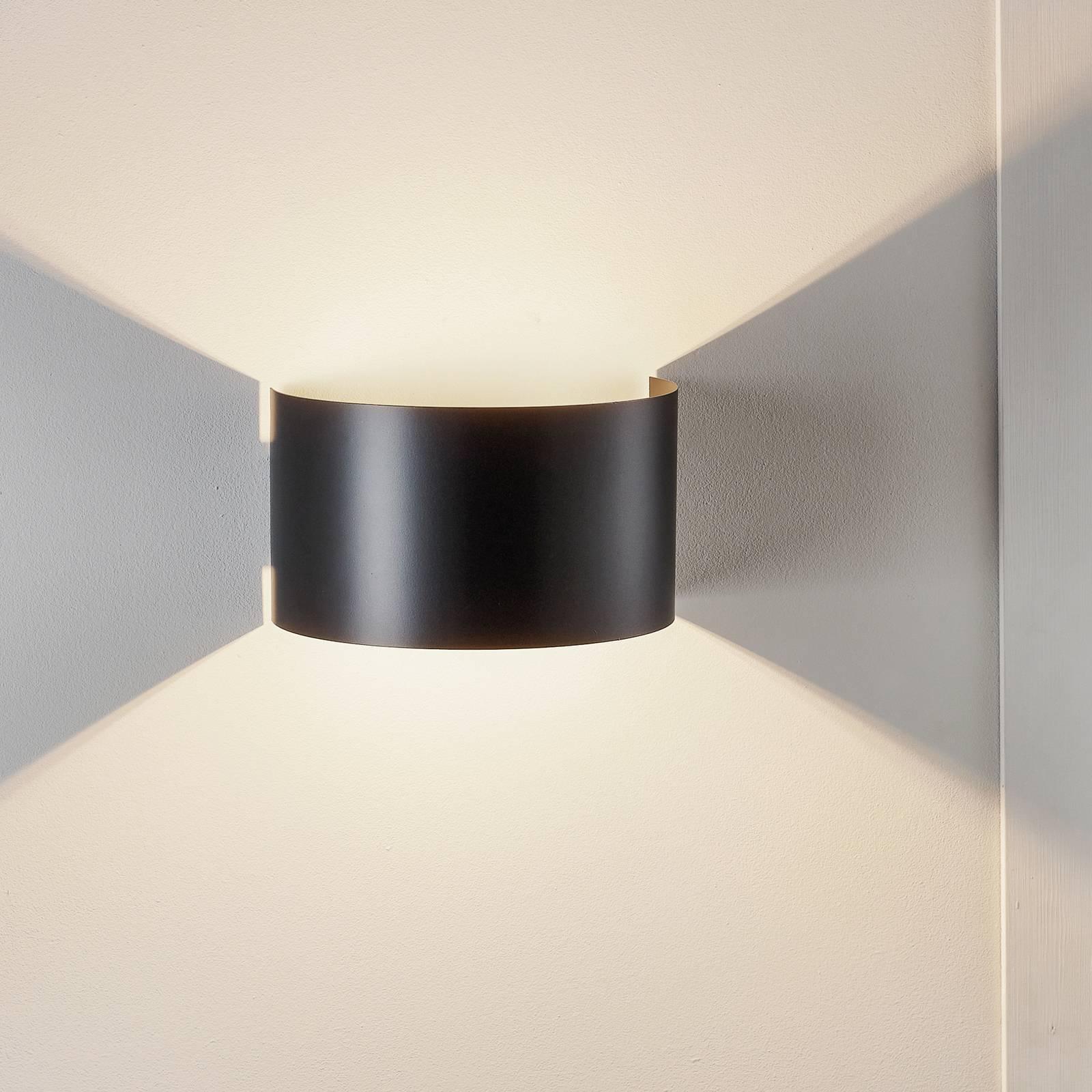 Billede af Fold væglampe med buet skærm i sort