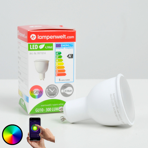 Lindby Smart LED-reflektor 110° GU10 4,5W, RGB